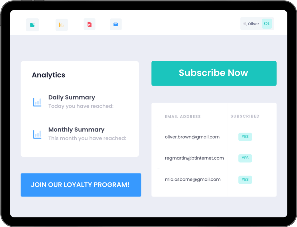 Platform to engage customers and upsell